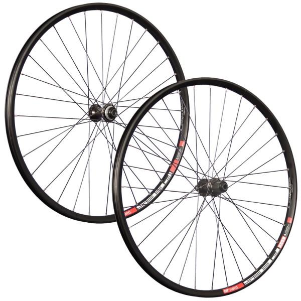 29 inch wheelset DT Swiss double wall rim eyelet Shimano M6010-B disc black