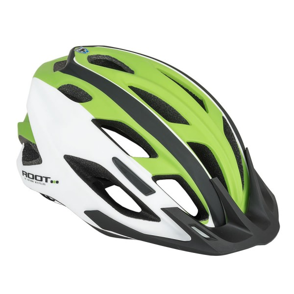 Bicycle helmet Root inmold Size M 53cm-59cm Dial-Fit green white
