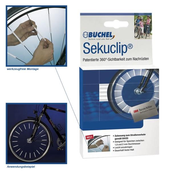 3M Scotchlite réflecteursde rayons de vélo - Sekuclip de Büchel 4 pièces