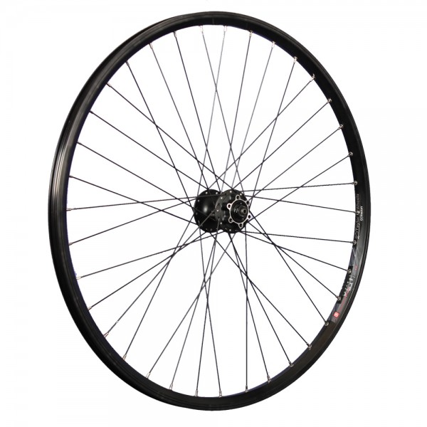 28 inch front wheel Mach1 240 disc double wall rim Shimano HB-M475 disc 6h black