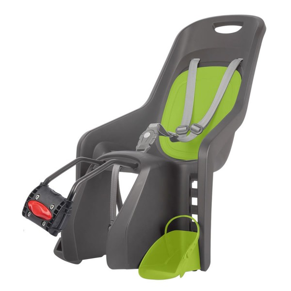 Bicycle child seat Bubbly Maxi FF X8 gray green frame mounting