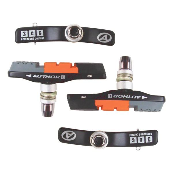 Vélo plaquettes de frein ABS-3CC Cartridge V-Brake 4 Patins de frein set