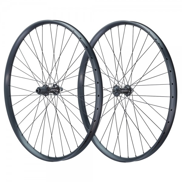 Vuelta 29 inch bicycle wheelset EM34 disc Shimano Deore M6010 black