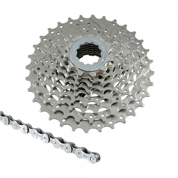Bicycle wear set Shimano cassette CH-HG400 9-speed chain HG53 complete set