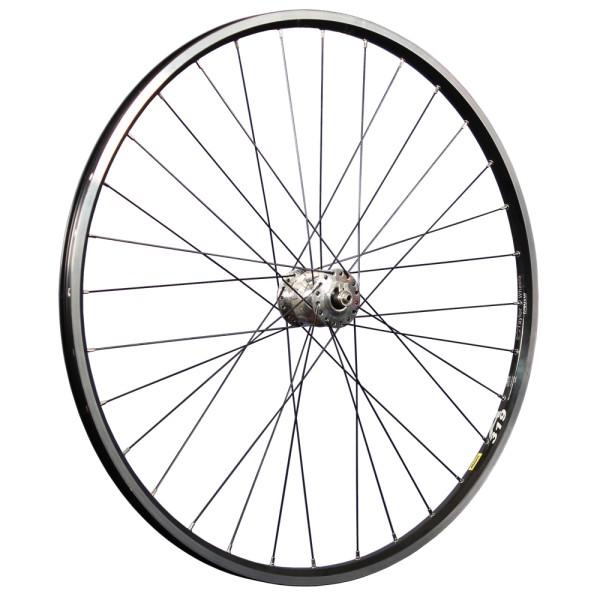 28 inch front wheel Mavic A319 double wall rim eyelet SON 28 hub dynamo silver