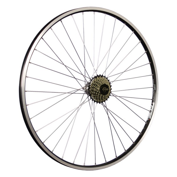 28inch bike rear wheel ZAC19 freewheel 7 speed black