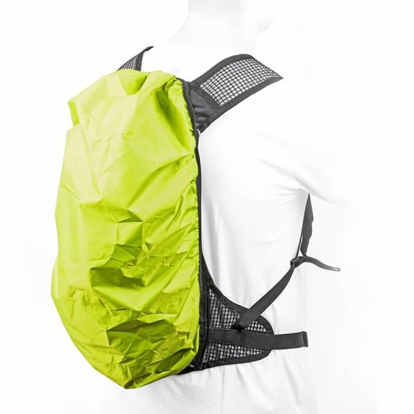 Vélo trekking protection contre la pluie A-O21 pour sac à dos imperméable à l'eau vert-jaune