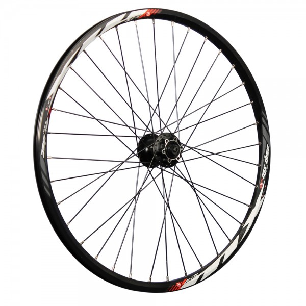 26 inch front wheel Mach1 MX double wall Shimano HB-M475 Disc 6L black